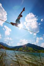 Slacklineparcour hosted by Slackline-Tools